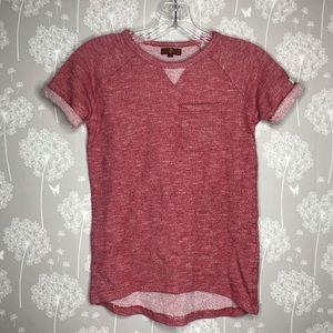 7 for All Mankind Shirt Size Large Red Marled